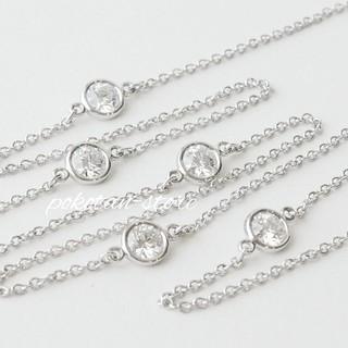 Tiffany & Co. - 豪華【ティファニー】pt950  5Pダイヤモンド バイザヤード ネックレス