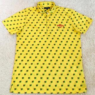 キャロウェイゴルフ(Callaway Golf)のCallaway golf キャロウェイ フラワープリント半袖ポロシャツ L(ウエア)