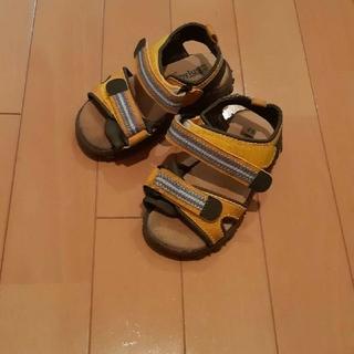 ブランシェス(Branshes)のブランシェスBranshes黄×青×ベージュキッズスポーツサンダル16センチ(サンダル)