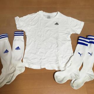 アディダス(adidas)のアディダスTシャツ130とサッカーソックス(Tシャツ/カットソー)
