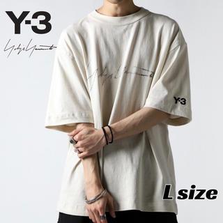 ワイスリー(Y-3)の【新品・20SS】Y-3 ロゴ Tシャツ 新作  ヨウジヤマモト Lサイズ(Tシャツ/カットソー(半袖/袖なし))