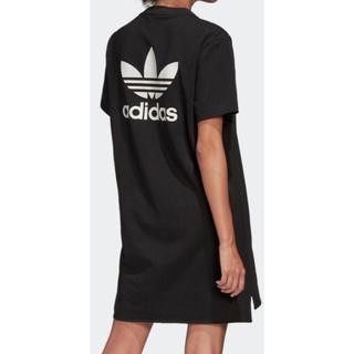 アディダス(adidas)のadidas Tシャツワンピ  L(ひざ丈ワンピース)