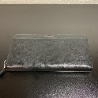プラダ(PRADA)のPRADA プラダ 長財布 ラウンドジップ ブラック(長財布)
