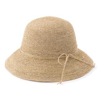 MUJI (無印良品) - 無印良品 新品 今季 ラフィア つば広帽子