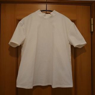 エンフォルド(ENFOLD)のストライプスタンドカラーシャツ(シャツ/ブラウス(半袖/袖なし))