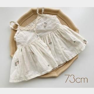 花柄❁ ワンピース チュニック 73cm 韓国子供服