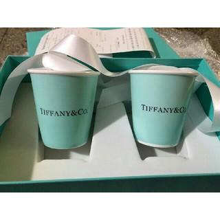 Tiffany & Co. -  ティファニーボーンチャイナペーパーカップ2個セット紙コップ