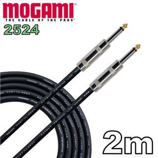 MOGAMI 2524 2m ギター ベース シールド(シールド/ケーブル)