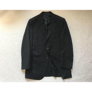 J740★コルネリアーニ ジャケット メンズ 黒 48Rイタリー 伊製 春夏秋(テーラードジャケット)