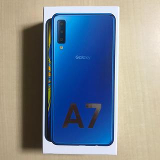 SAMSUNG - 新品未開封 Samsung Galaxy A7 ブルー 64GB SIMフリー