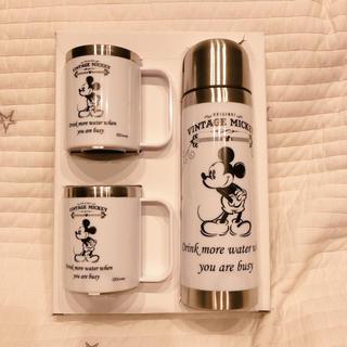 Disney - ミッキー 水筒 コップ セット