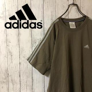 adidas - 【激レア】アディダスadidas☆刺繍ワンポイントロゴ サイドライン Tシャツ