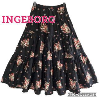 インゲボルグ(INGEBORG)のインゲボルグ ローズブーケプリントスカート(ロングスカート)