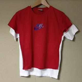 ナイキ(NIKE)のNIKE ナイキ ロゴデザインTシャツ レディース(Tシャツ(半袖/袖なし))