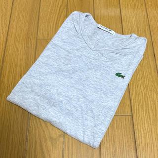 LACOSTE - LACOSTE Vネック Tシャツ 2 グレー