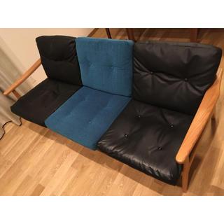 カリモクカグ(カリモク家具)のマルニ60 ソファ チェア 2シーター ブラック(二人掛けソファ)