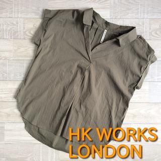 シマムラ(しまむら)の【HK WORKS LONDON】シャツ 薄カーキ Mサイズ 春夏服 しまむら(シャツ/ブラウス(半袖/袖なし))