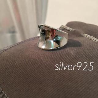silver925 メンズレディース シンプルリング指輪 シルバーサイズ16.5(リング(指輪))