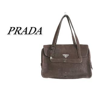 プラダ(PRADA)のPRADA プラダ ハンドバッグ ダークブラウン(ハンドバッグ)