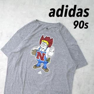 アディダス(adidas)のレア 90s adidas アディダス デカプリント カウボーイ オーバーサイズ(Tシャツ/カットソー(半袖/袖なし))