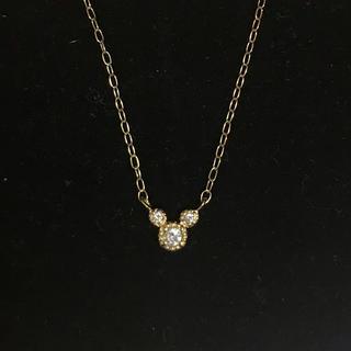 ディズニー(Disney)のK18ダイヤモンド ペンダント(ネックレス)