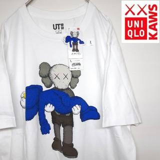 UNIQLO - 新品未使用 タグ付き UNIQLO KAWS コラボ  Tシャツ L