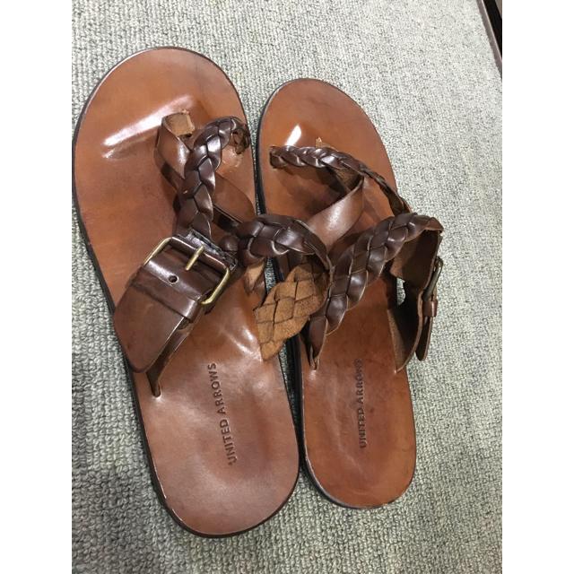 UNITED ARROWS(ユナイテッドアローズ)のCHEさま 専用ユナイテッドアローズ  レザーサンダル メンズの靴/シューズ(サンダル)の商品写真
