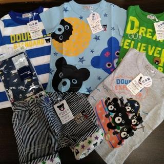 ダブルビー(DOUBLE.B)の【新品】80 ダブルビー ミキハウス Tシャツ パンツ サマーパック ダブルB (シャツ/カットソー)