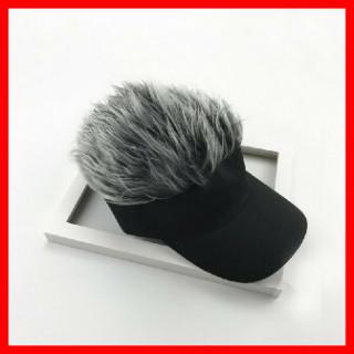 204 銀 カツラ ゴルフバイザー 髪の毛(サンバイザー)