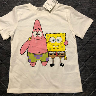 エイチアンドエム(H&M)のスポンジボブ Tシャツ(Tシャツ/カットソー)