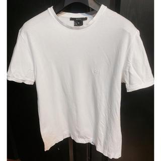 グッチ(Gucci)のusedグッチGUCCIシャツT半袖ホワイト夏シマ刺繍モデル夏Mサイズ(Tシャツ/カットソー(半袖/袖なし))