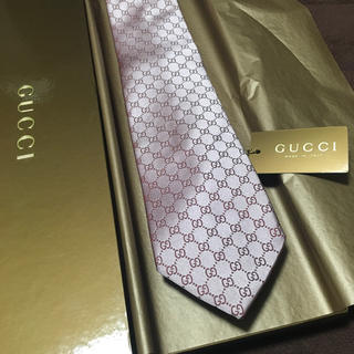 グッチ(Gucci)の未使用 グッチ ネクタイ GG ピンク(ネクタイ)
