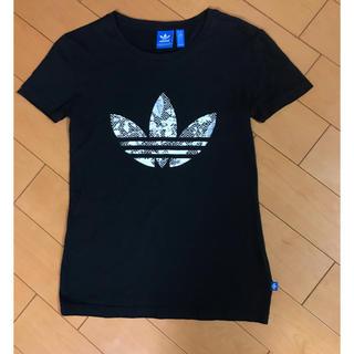 アディダス(adidas)のadidasブラックコットンT(Tシャツ(半袖/袖なし))