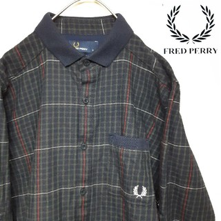 FRED PERRY - FRED PERRY フレッドペリー  長袖 シャツ S