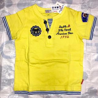 DOUBLE.B - 新品タグ付き ミキハウス ダブルB ワッペン 半袖Tシャツ 100