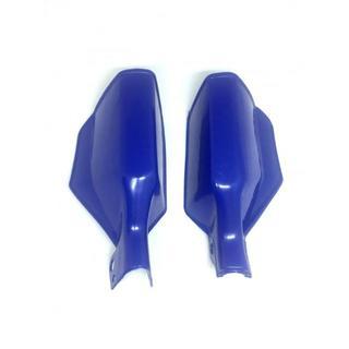 汎用 ナックルガード バイク 防風 防寒 ハンドガード 青色
