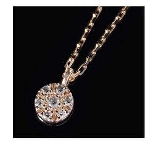 アガット(agete)のagete アガット シャンデリア ダイヤモンド パヴェ ネックレス K10(ネックレス)