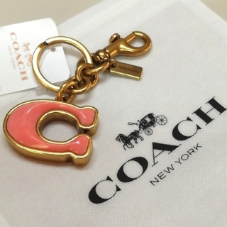 コーチ(COACH)の【COACH★42737】コーチ百貨店商品♪バッグチャームキーホルダー新品タグ付(キーホルダー)