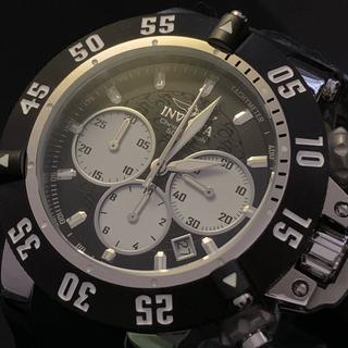 インビクタ(INVICTA)のインビクタ INVICTA ステンレススチール ブラックダイヤル クロノグラフ (腕時計(アナログ))