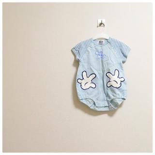 ディズニー(Disney)のロンパース ベビー 半袖ロンパース ミッキー ディズニー ベビー服(ロンパース)