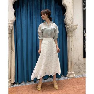 GRACE CONTINENTAL - カットワーク刺繍ロングスカート