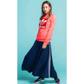 アディダス(adidas)のアディダスオリジナルス ロングスカート LONG SATIN SKIRT (ロングスカート)