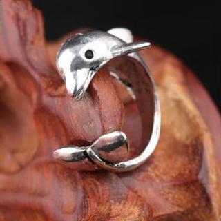 特価高品質!イルカのステンレスリング 7~12号相当(リング(指輪))