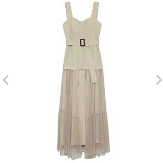 FRAY I.D - チュールスカートタイトドレス