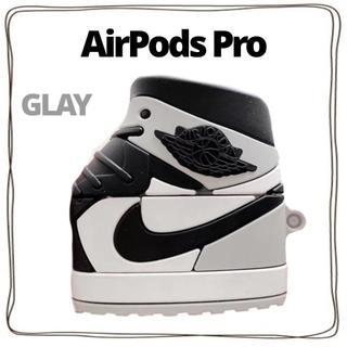 AirPods プロ カバー ケース クツ 靴 オシャレ シリコン グレー灰(ヘッドフォン/イヤフォン)