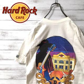 激レア 90s ハードロックカフェ Tシャツ バックプリント  ダラス(Tシャツ/カットソー(半袖/袖なし))
