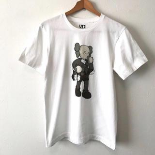 ユニクロ(UNIQLO)の美品 UT ユニクロ カウズコラボ 半袖TシャツS ホワイト(Tシャツ/カットソー(半袖/袖なし))