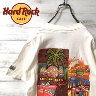 激レア 90s ハードロックカフェ Tシャツ バックプリント  LA(Tシャツ/カットソー(半袖/袖なし))