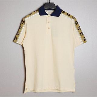 グッチ(Gucci)のグッチ 肩ロゴ ラインポロシャツ(ポロシャツ)
