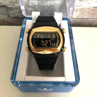 アディダス(adidas)のadidas アディダス 黒 ブラック ゴールド デジタル腕時計 オリジナルス(腕時計)